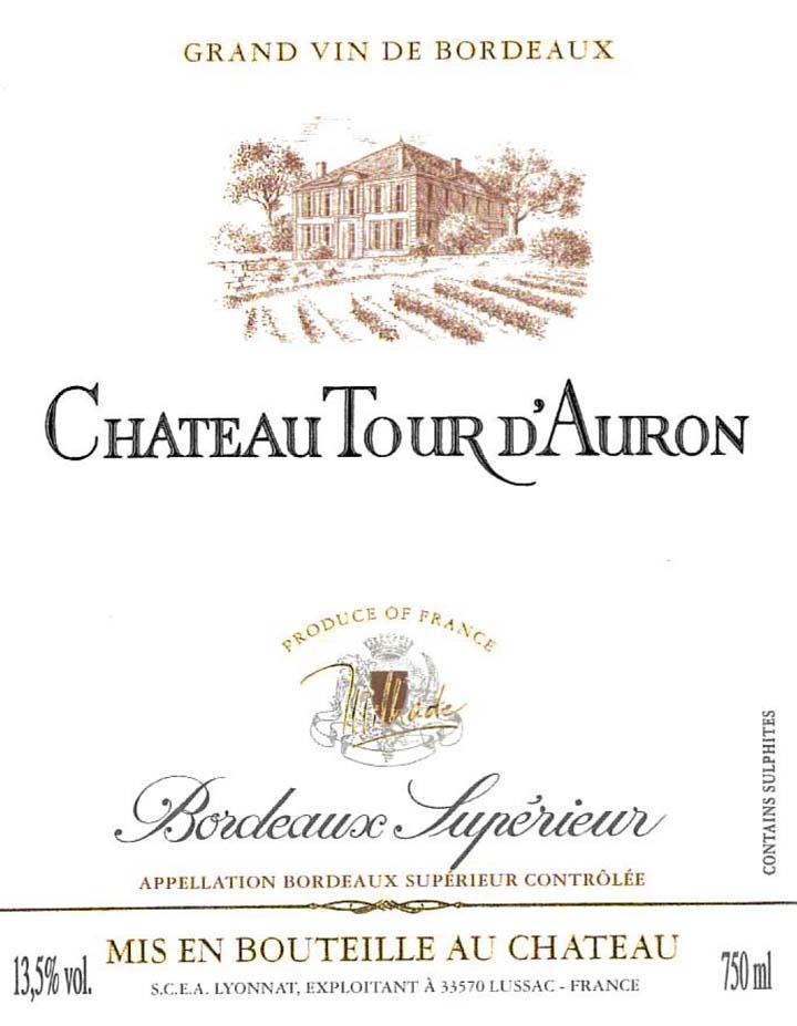 France bordeaux bordeaux superieur chateau tour d for Chateau lyonnat