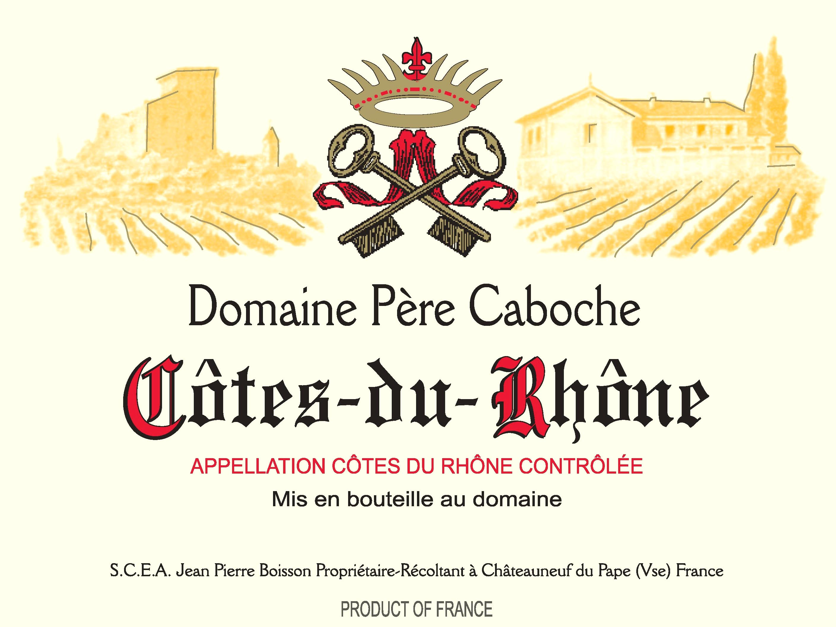 Domaine Pere Caboche - Cotes-du-Rhone - Red
