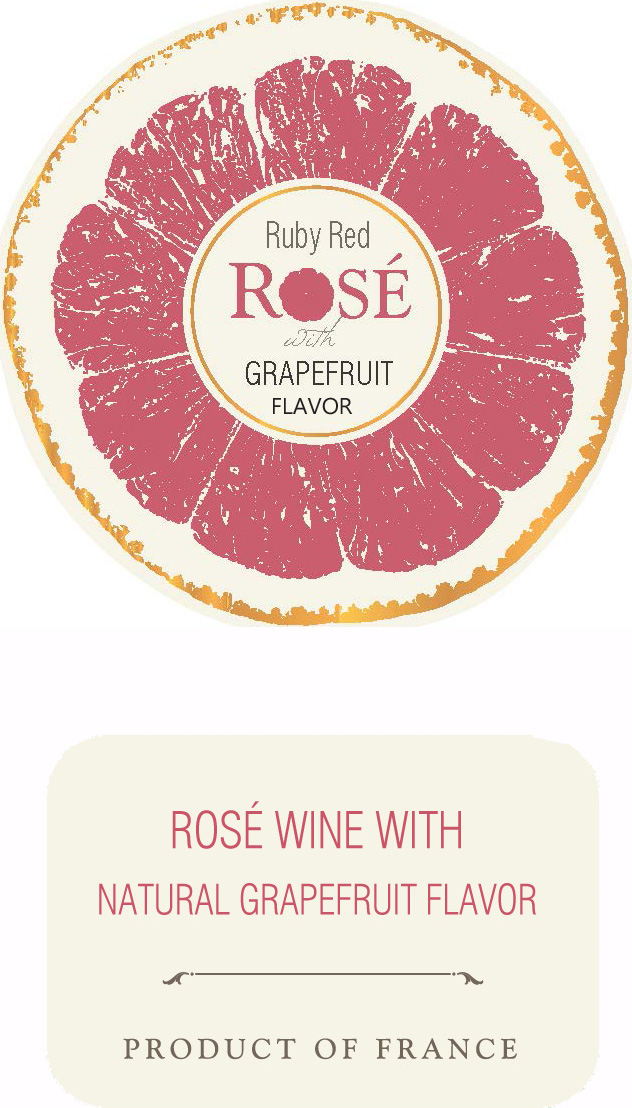 Ruby Red Rosé label