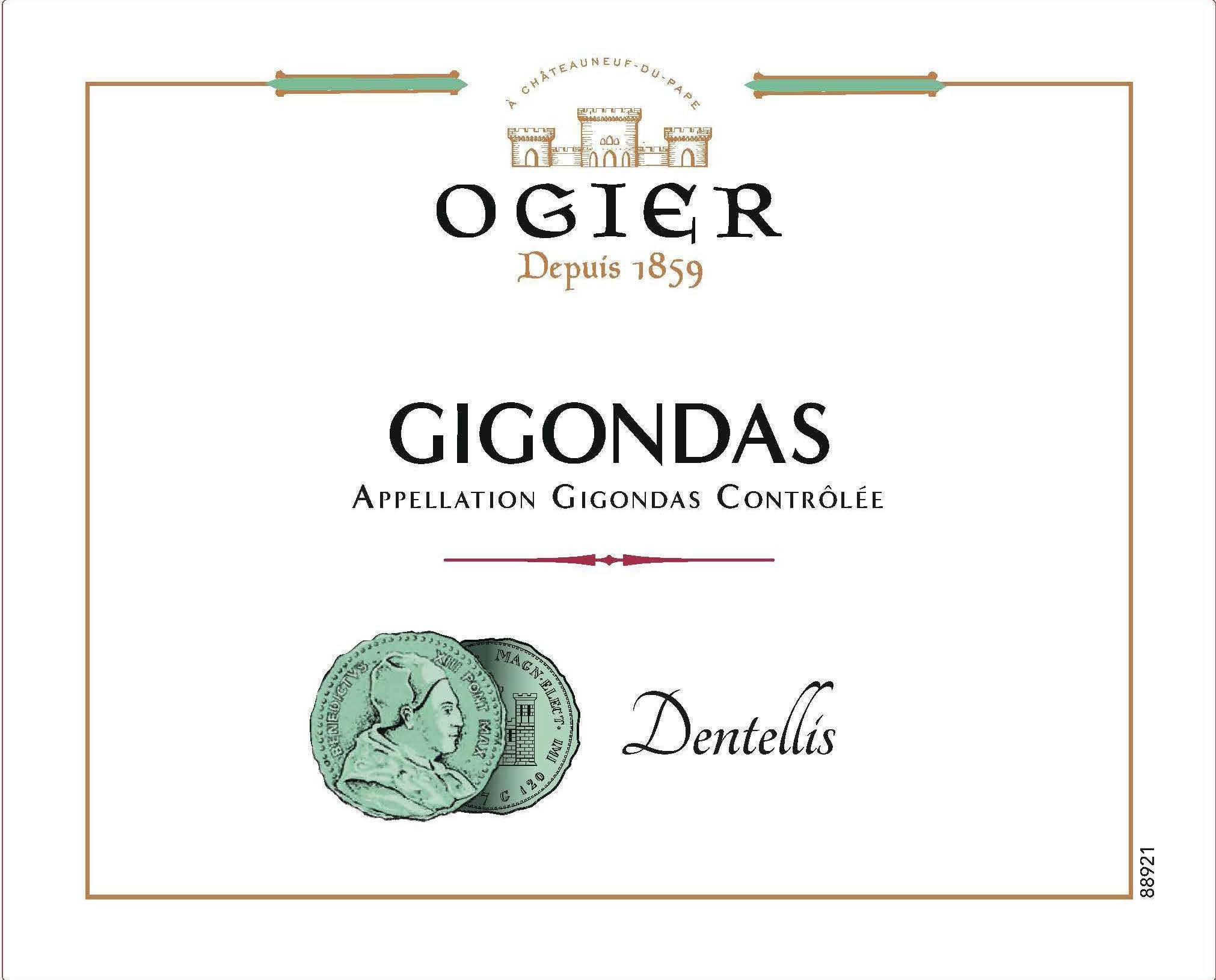 Ogier - Dentellis - Gigondas label