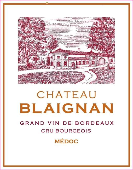 Chateau Blaignan label