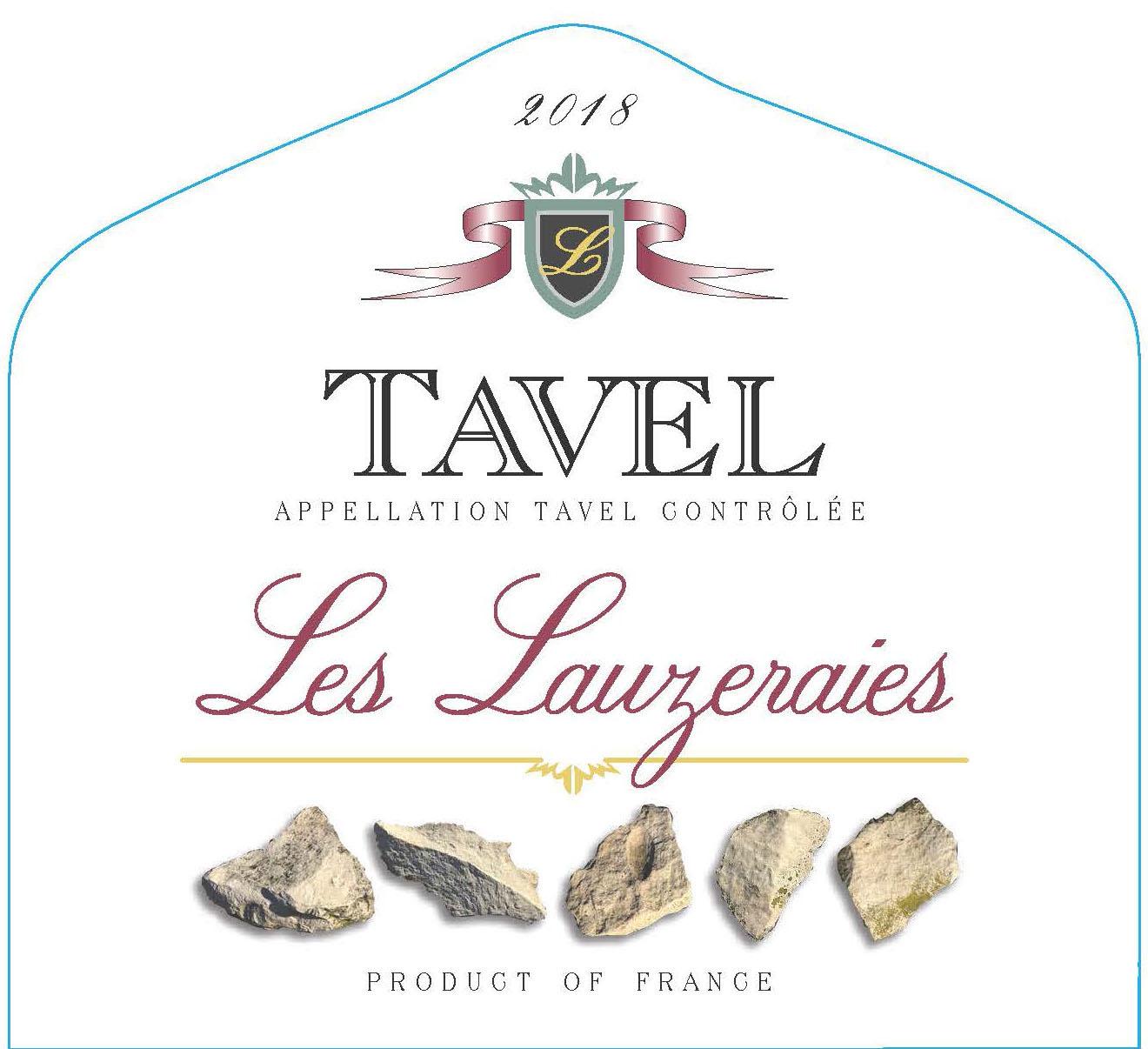 Les Lauzeraies - Tavel label