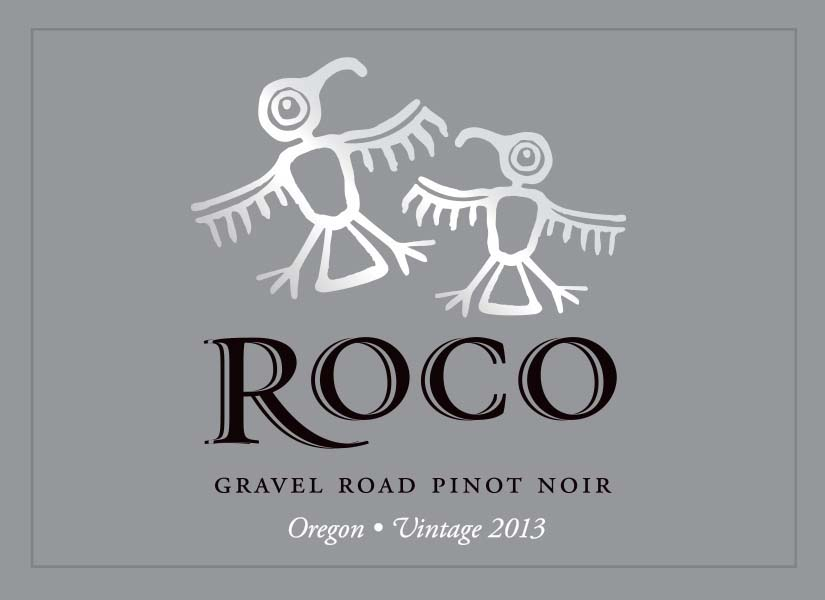 Roco Wine - Gravel Road - Pinot Noir label