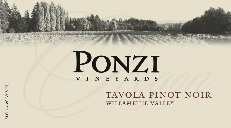 Ponzi Vineyards - Willamette Valley - Tavola Pinot Noir