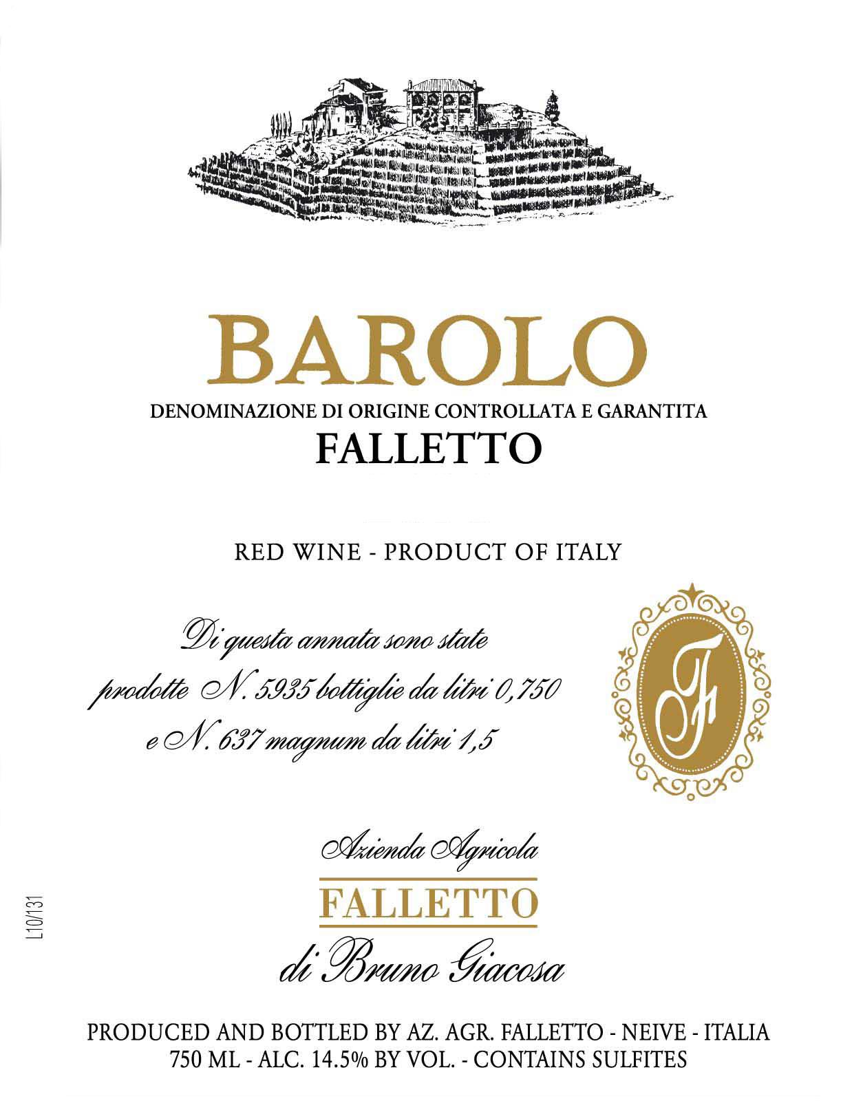 Bruno Giacosa - Barolo Falletto