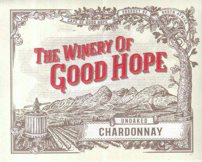 The Winery of Good Hope - Unoaked Chardonnay label