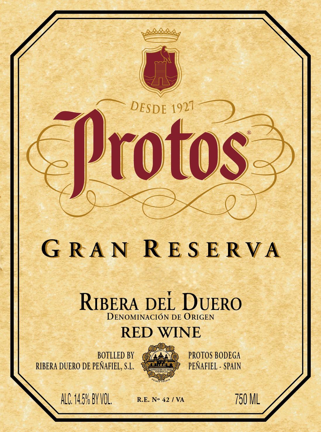 Protos - Gran Reserva label