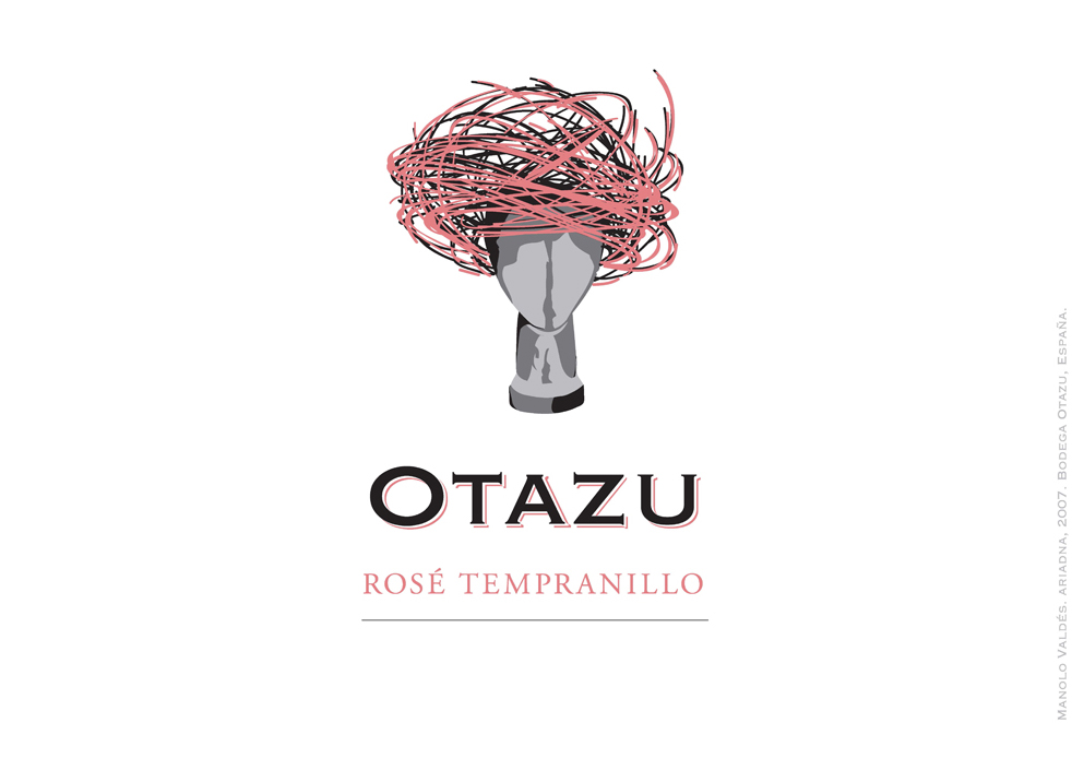 Otazu - Rose Tempranillo label