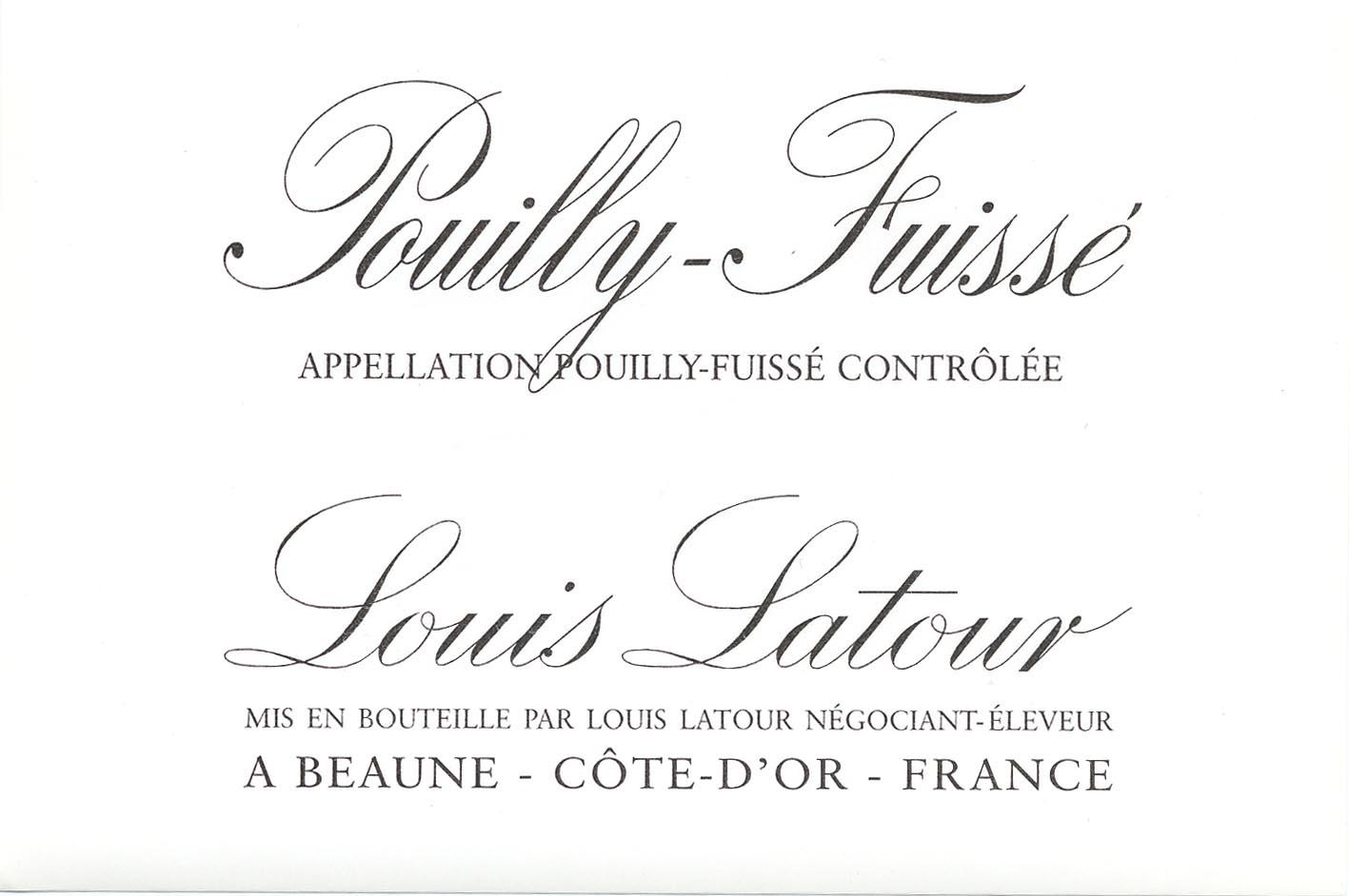 Louis Latour - Pouilly-Fuisse