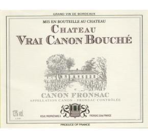 Chateau Vrai Canon Bouché label