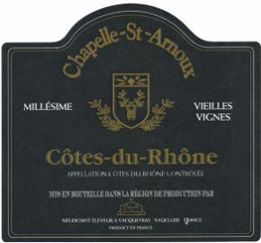 Chapelle St. Arnoux - Cotes Du Rhone