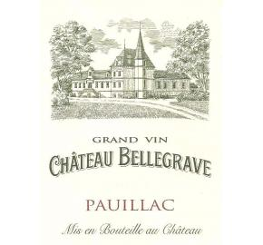 Chateau Bellegrave Pauillac label