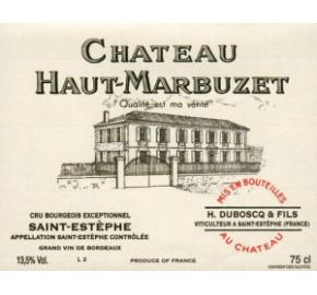 Chateau Haut-Marbuzet label