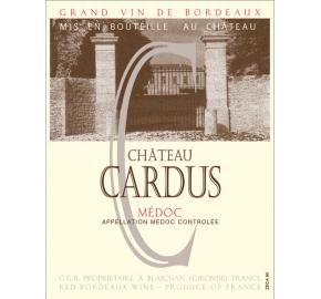 Chateau Cardus label