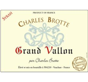 Charles Brotte - Grand Vallon Syrah label