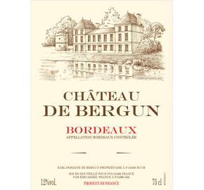Chateau De Bergun label