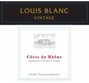 Louis Blanc - Vintage - Cotes du Rhone label