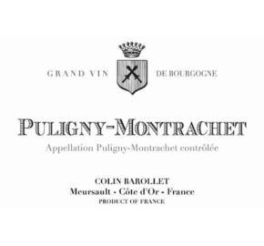 Colin Barollet - Puligny Montrachet label