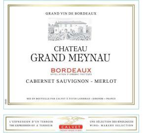 Calvet - Chateau Grand Meynau label