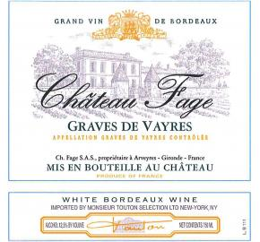 Chateau Fage - White label