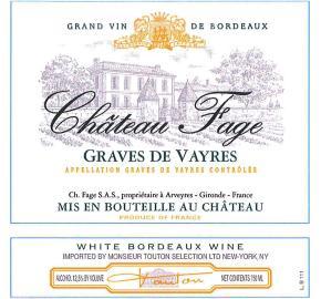 Chateau Fage - White