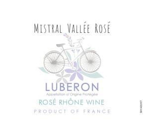 Mistral Vallee - Rose label