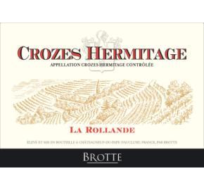 Brotte - La Rollande Crozes Hermitage label