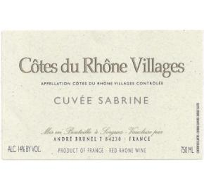Andre Brunel - CDR Villages - Cuvee Sabrine
