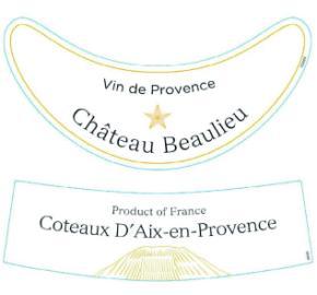 Chateau Beaulieu - Vin de Provence Rose label