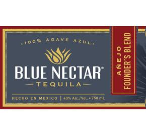 Blue Nectar - Añejo Founder's Blend Tequila label