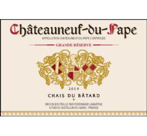 Chais du Batard Grande Reserve label