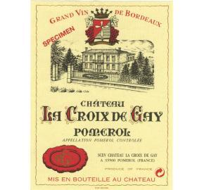 Chateau La Croix De Gay label