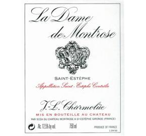La Dame De Montrose label
