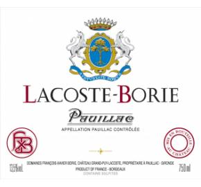 Lacoste-Borie label