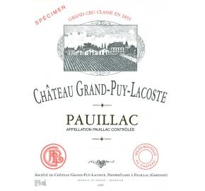 Chateau Grand-Puy-Lacoste label