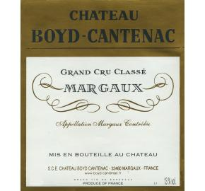 Chateau Boyd-Cantenac label