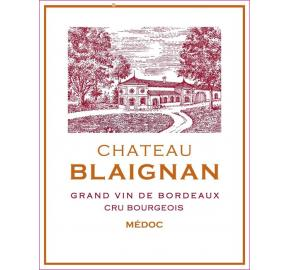 Chateau Blaignan label