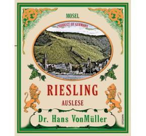 Dr. Hans VonMuller - Riesling Auslese label