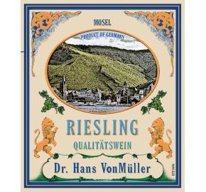 Dr. Hans VonMuller - Riesling QBA label