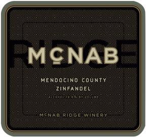 McNab Ridge - Zinfandel Mendocino label