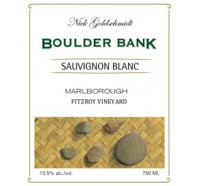 Nick Goldschmidt - Boulder Bank - Sauvignon Blanc Fitzroy label