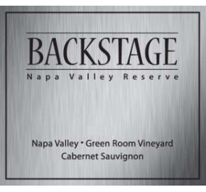 Backstage - Cabernet Sauvignon Reserve - Green Room