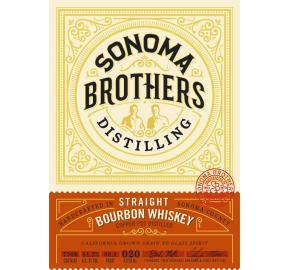 Sonoma Brothers Bourbon label