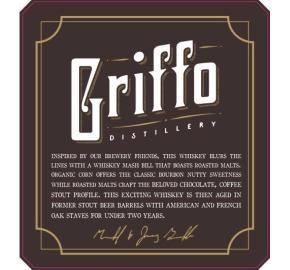 Griffo - Stout Barreled Whiskey label