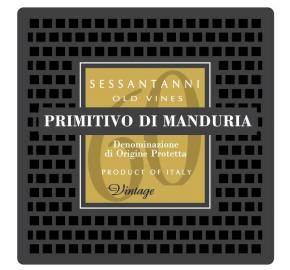 San Marzano - Sessantanni - Primitivo di Manduria label