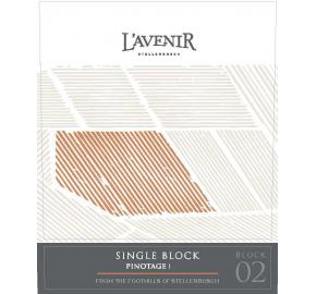 L'Avenir - Single Block Pinotage label