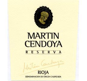 Martin Cendoya - Rioja - Reserva label