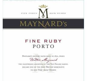 Maynard's - Fine Ruby Porto label