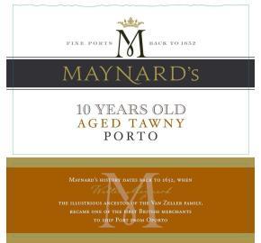 Maynard's - 10 Years Old Aged Tawny Porto label