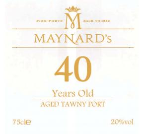 Maynard's - 40 Years Old Aged Tawny Port label